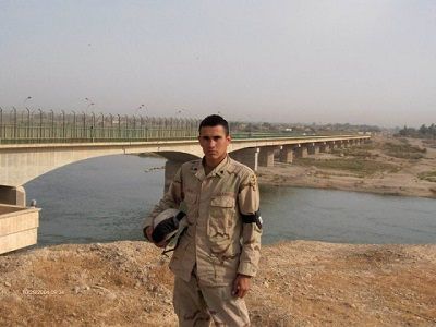 Ruben Moreno Garcia during his deployment in Iraq where he served the Army as an engineer for six years. Photo courtesy of Ruben Moreno Garcia.